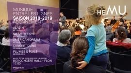 Abonnement Musique entre les lignes, saison 2018-2019 BCV Concert Hall Lausanne Tickets
