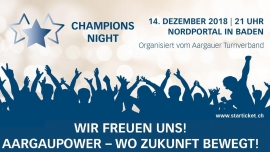 Champions Night Nordportal Baden Tickets