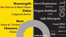 Poèmes symphoniques Salle Métropole Lausanne Billets