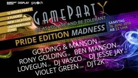 Gameparty Pride Edition Madness Bananenreiferei Zürich Biglietti