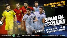 Spanien vs. Bosnien-Herzegowina AFG Arena St. Gallen Tickets