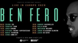 Ben Fero - Live in Europe 2020 Dynamo Zürich Biglietti