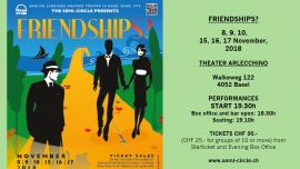"""Autumn 2018 production """"Friendships?"""" Theater Arlecchino Basel Tickets"""