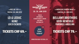 26. Intern. Trucker & Country-Festival Interlaken Diverse Locations Diverse Orte Tickets