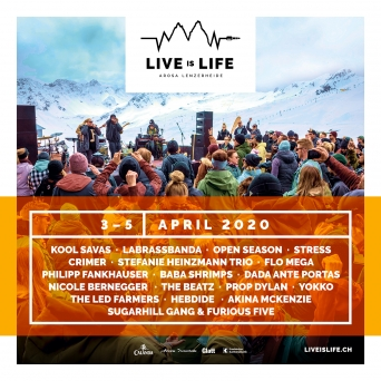 Live is Life Diverse Orte Arosa / Lenzerheide Tickets