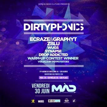 Dirtyphonics MàD Genève Billets