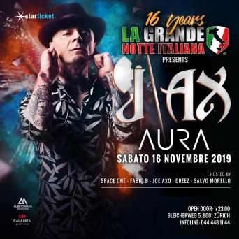J-AX #Showcase 2k1 AURA Club Zürich Tickets