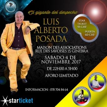 Concert Luis Alberto Posada Maison des Associations Genève Billets