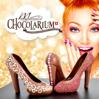 Maestrani: Schokoladen-High Heel Giesskurs Maestrani's Chocolarium Flawil bei St. Gallen Tickets