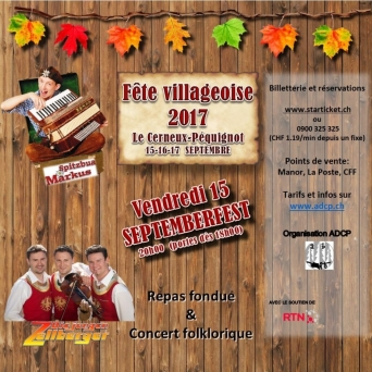 Soirée folklorique Place du Village, sous tente Le Cerneux-Péquignot Billets