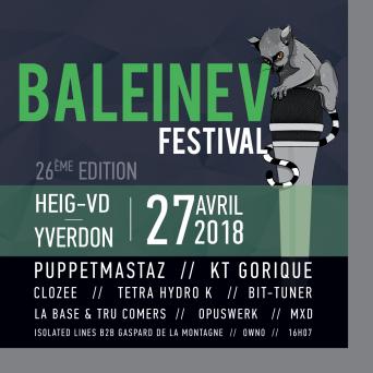 Baleinev Festival 2018 (HEIG-VD) Yverdon-les-Bains Billets
