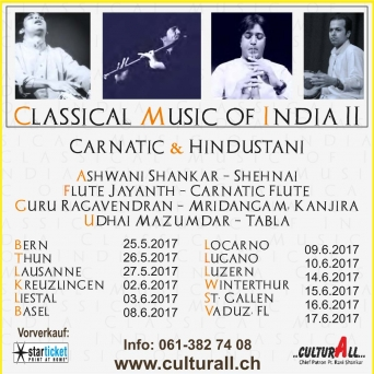 Classical Music of India II - Carnatic & Hindustani Le Cazard Lausanne Billets