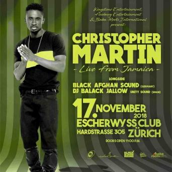 Christopher Martin Live Escherwyss, Hardstr. 305 Zürich Tickets