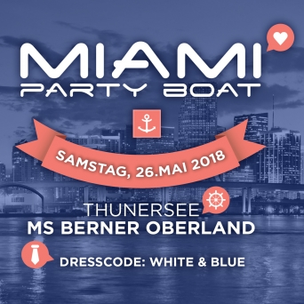 Miami Party Boat MS Berner Oberland Thun Tickets