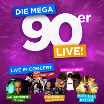 Die Mega 90er - live! Hallenstadion Zürich Tickets