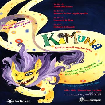 Kimuna - Pfiffige Kinderkonzerte für die ganze Familie Escherwyss Zürich Tickets