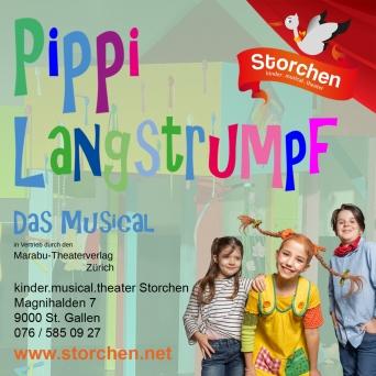 Pippi Langstrumpf Kinder.musical.theater Storchen St.Gallen Tickets
