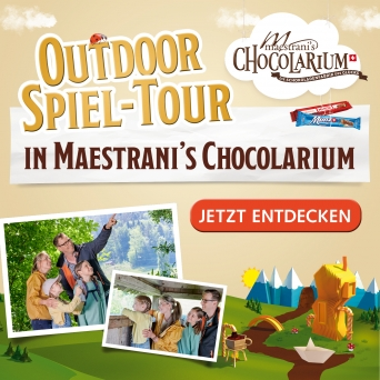 Maestrani's Chocolarium Outdoor Spiel-Tour Maestrani's Chocolarium Flawil bei St. Gallen Tickets