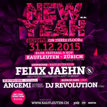 New Yeah! Kaufleuten - Klub, Festsaal & Lounge Zürich Tickets