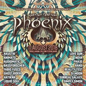 Phoenix Festival 2018 Chrummenrüti Trüllikon Tickets