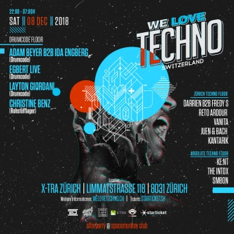 We Love Techno X-TRA Zürich Tickets