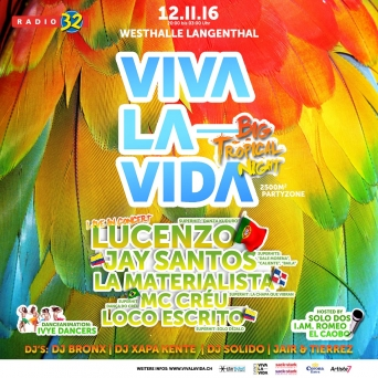 Viva La Vida Big Tropical Night Westhalle | Parkhotel Langenthal Tickets