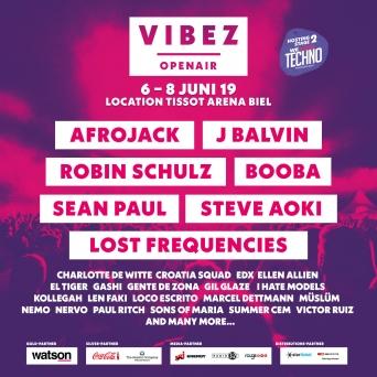 VIBEZ Openair 2019 Gelände Tissot Arena Biel Biel / Bienne Tickets