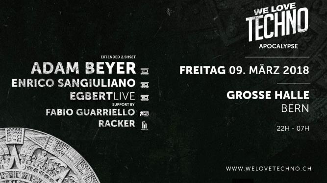 We love techno Reitschule Bern, Grosse Halle Bern Tickets