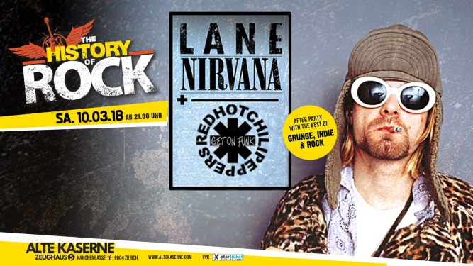 The History Of Rock presents:A Tribute to Nirvana & Red Hot Chili Peppers Alte Kaserne Zürich Tickets