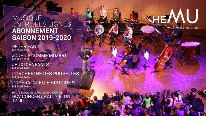 Abonnement Musique entre les lignes BCV Concert Hall Lausanne Tickets
