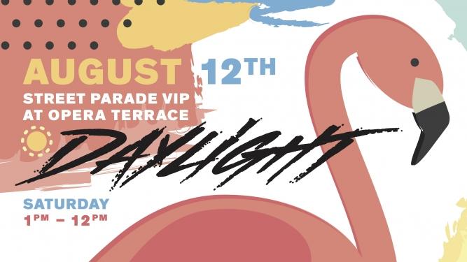 Daylight - Street Parade VIP 2017 Opernhaus Terrasse beim Belcanto Zürich Tickets