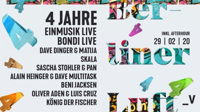 4 Jahre Berliner Luft Viertel Klub Basel Biglietti