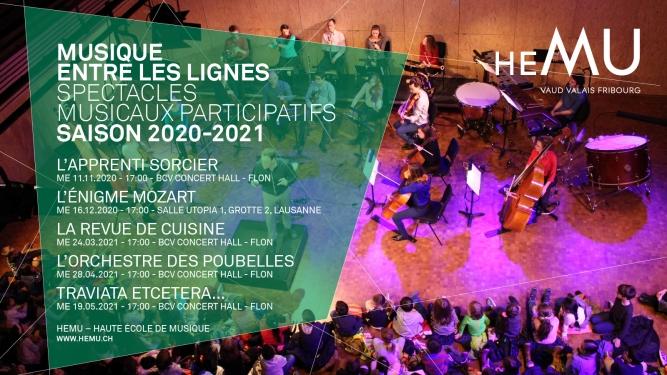 Abonnement Musique entre les lignes - saison 2020 - 2021 BCV Concert Hall Lausanne Billets