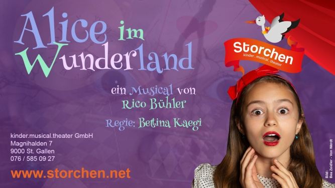 Alice im Wunderland Kinder.musical.theater Storchen St.Gallen Tickets