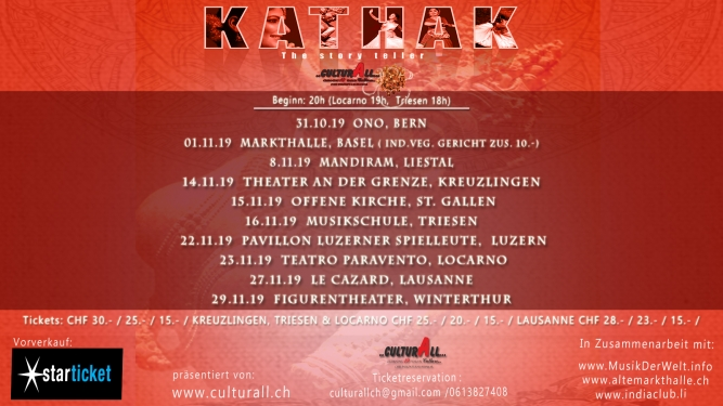 Kathak - The Story Teller Several locations Several cities Tickets