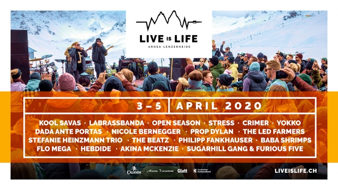 Live is Life Diverse Orte Arosa / Lenzerheide Biglietti