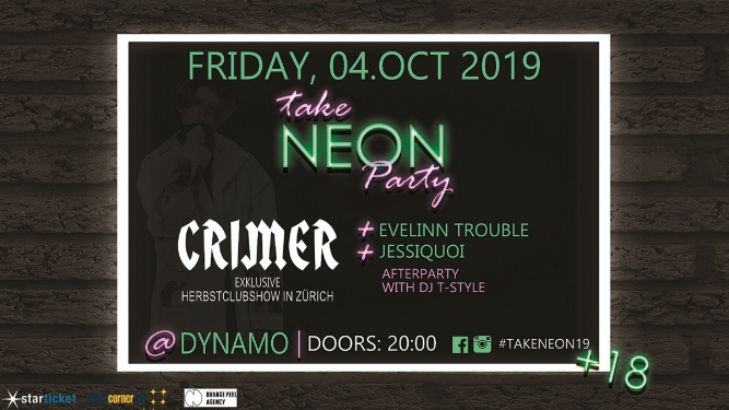 Take Neon Party Dynamo Zürich Tickets
