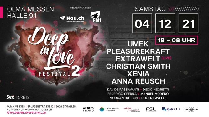 Deep In Love Festival 2 Olma Halle 9.1 St.Gallen Biglietti