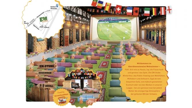 Die grösste WG der Schweiz EM Stube Winterthur Tickets