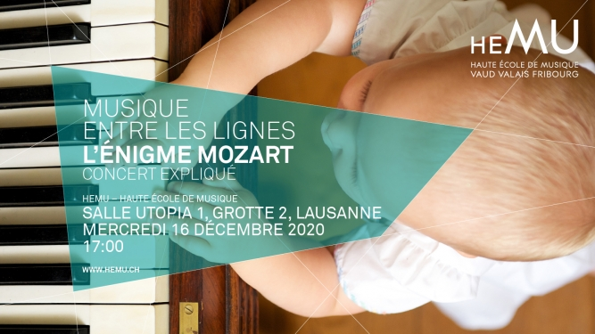 L'Énigme Mozart Salle Utopia 1, HEMU Lausanne Tickets