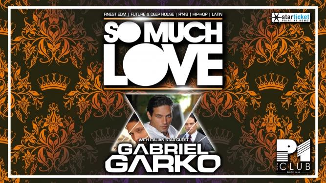 So much love mit Gabriel Garko (IT) Club P1 Dübendorf Tickets