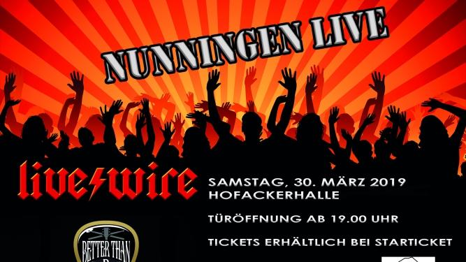 Nunningen Live: live wire Hofackerhalle Nunningen Nunningen Tickets