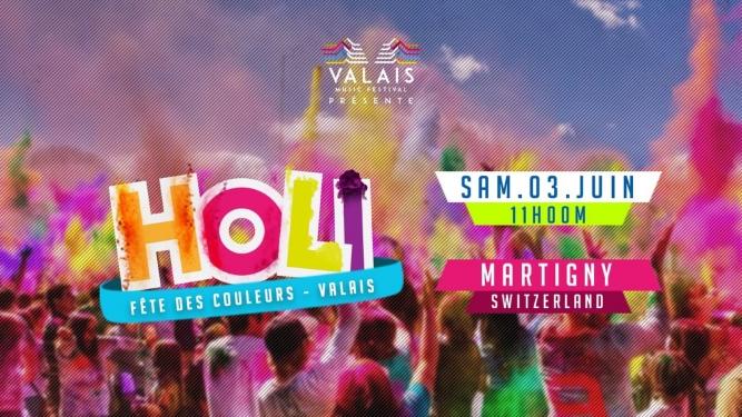 Holi Valais - Fête des Couleurs A côté du Cerm Martigny Billets