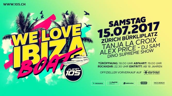 105 We love Ibiza Party Boat Schiffsanlegestelle Bürkliplatz Zürich Tickets