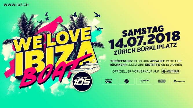105 We love Ibiza Party Boat Boat Helvetia Bürkliplatz Zürich Zürich Tickets