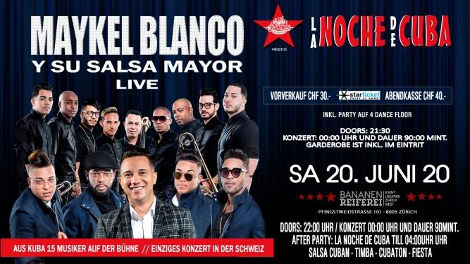 Maykel Blanco Y Su Salsa Mayor aus Kuba Bananenreiferei Zürich Tickets