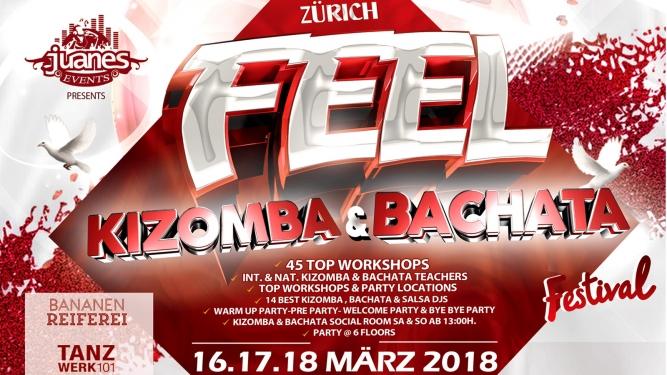 Kizomba & Bachata Festival 2018 Bananenreiferei & Tanzwerk 101 Zürich Billets