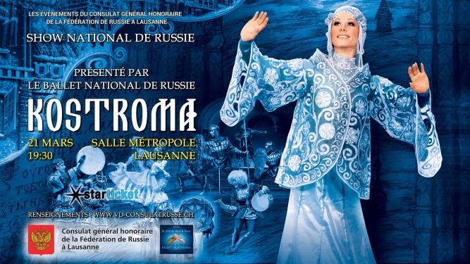 Ballet national de Russie Kostroma Salle Métropole Lausanne Billets