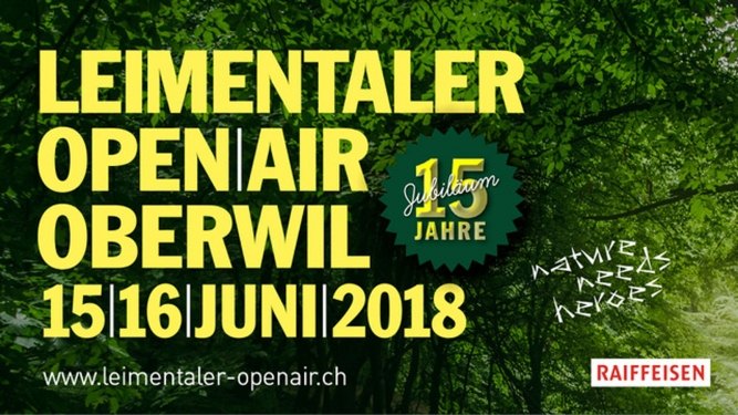 Leimentaler OpenAir 2018 Bruderholzhof Oberwil BL Tickets