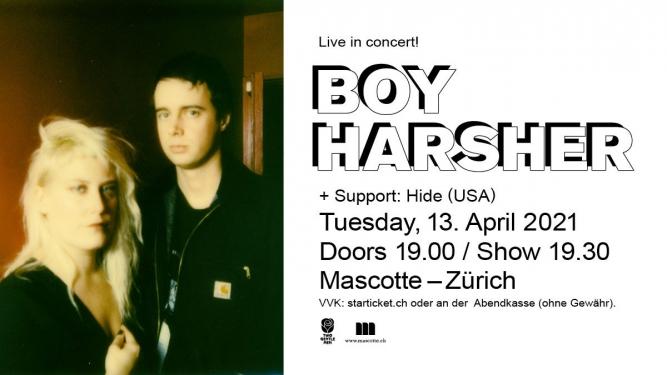 Boy Harsher (USA) Mascotte Zürich Biglietti